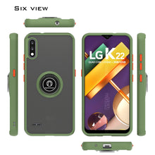 Load image into Gallery viewer, LG K22 / K22+ Plus / K32 Case - Clear Tinted Metal Ring Phone Cover - Dynamic Series