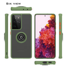 Load image into Gallery viewer, Samsung Galaxy S21 Ultra Case - Clear Tinted Metal Ring Phone Cover - Dynamic Series