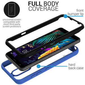 LG Arena 2 / Escape Plus / Journey LTE / K30 2019 / Tribute Royal Case - Heavy Duty Shockproof Clear Phone Cover - EOS Series