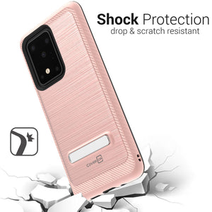 Samsung Galaxy S20 Ultra Case - Metal Kickstand Hybrid Phone Cover - SleekStand Series