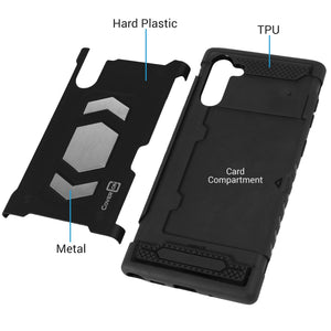 Samsung Galaxy Note 10 Card Case with Metal Plate - Metal Series