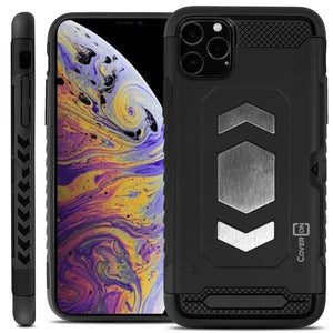 iPhone 11 Pro Max Card Case with Metal Plate - Metal Series