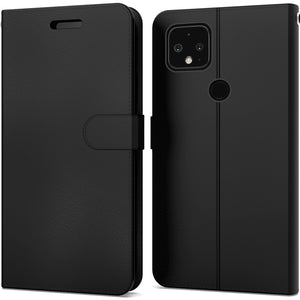 Google Pixel 5 XL Wallet Case - RFID Blocking Leather Folio Phone Pouch - CarryALL Series