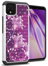 Load image into Gallery viewer, Google Pixel 4 Case - Rhinestone Bling Hybrid Phone Cover - Aurora Series