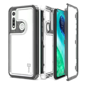 Motorola Moto G Fast Clear Case - Full Body Tough Military Grade Shockproof Phone Cover