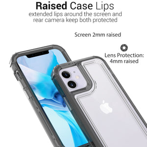 Apple iPhone 12 Mini Clear Case - Full Body Tough Military Grade Shockproof Phone Cover