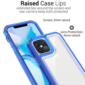 Apple iPhone 12 Pro Max Clear Case - Full Body Tough Military Grade Shockproof Phone Cover