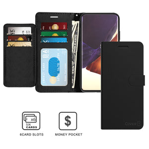 Samsung Galaxy Note 20 Ultra Wallet Case - RFID Blocking Leather Folio Phone Pouch - CarryALL Series