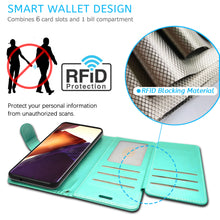 Load image into Gallery viewer, Samsung Galaxy Note 20 Ultra Wallet Case - RFID Blocking Leather Folio Phone Pouch - CarryALL Series