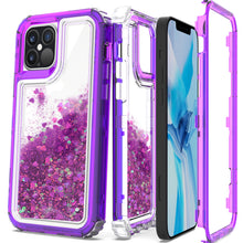 Load image into Gallery viewer, Apple iPhone 12 Pro Max Clear Liquid Glitter Case -  Full Body Tough Military Grade Shockproof Phone Cover