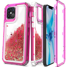 Load image into Gallery viewer, Apple iPhone 12 / iPhone 12 Pro Clear Liquid Glitter Case -  Full Body Tough Military Grade Shockproof Phone Cover