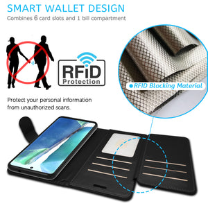 Samsung Galaxy Note 20 Wallet Case - RFID Blocking Leather Folio Phone Pouch - CarryALL Series