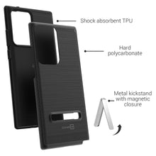Load image into Gallery viewer, Samsung Galaxy Note 20 Ultra Case - Metal Kickstand Hybrid Phone Cover - SleekStand Series