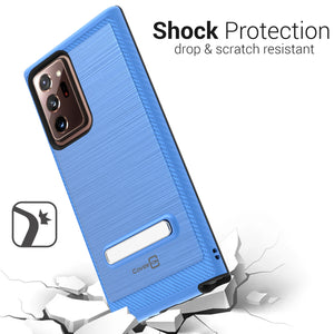 Samsung Galaxy Note 20 Ultra Case - Metal Kickstand Hybrid Phone Cover - SleekStand Series