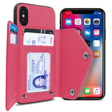 Load image into Gallery viewer, iPhone XS / iPhone X Wallet Case Pocket Pouch Credit Card Holder Fabric-Backed Phone Cover - Pocket Pouch Series