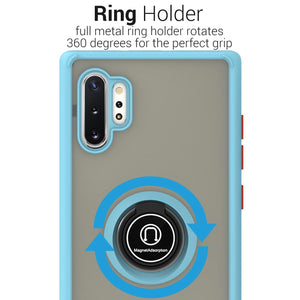 Samsung Galaxy Note 10 Plus / Galaxy Note 10 Plus 5G Case - Clear Tinted Metal Ring Phone Cover - Dynamic Series