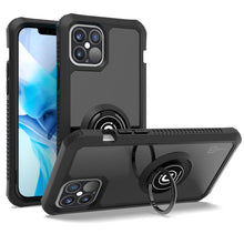 Load image into Gallery viewer, Apple iPhone 12 Pro Max Case - Clear Tinted Metal Ring Phone Cover - Dynamic Series