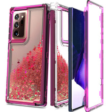 Load image into Gallery viewer, Samsung Galaxy Note 20 Ultra Clear Liquid Glitter Case -  Full Body Tough Military Grade Shockproof Phone Cover
