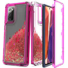Load image into Gallery viewer, Samsung Galaxy Note 20 Clear Liquid Glitter Case -  Full Body Tough Military Grade Shockproof Phone Cover
