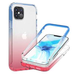 Apple iPhone 12 Pro Max Clear Case Full Body Colorful Phone Cover - Gradient Series