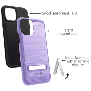 iPhone 11 Pro Case - Metal Kickstand Hybrid Phone Cover - SleekStand Series