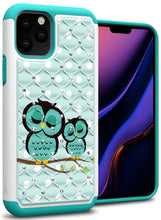 Load image into Gallery viewer, iPhone 11 Pro Max Case - Rhinestone Bling Hybrid Phone Cover - Aurora Series