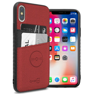 iPhone XS Max Card Case - Credit Card Holder and Magnetic Car Mount Compatbile Phone Cover - EDC Series