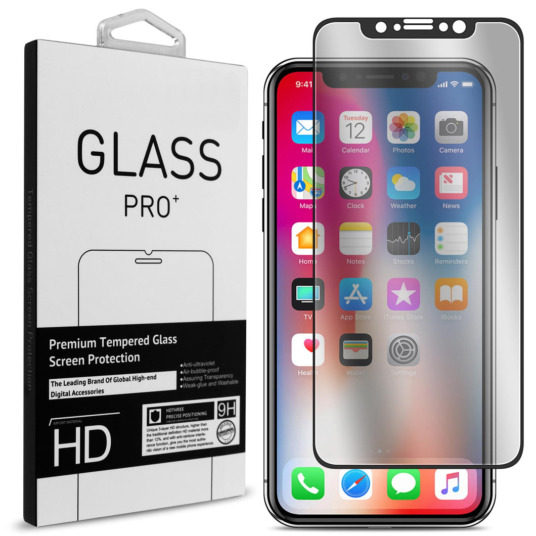 iPhone XS / iPhone X Tempered Glass Screen Protector - InvisiGuard Series