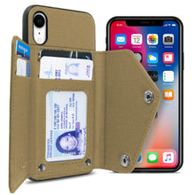 Load image into Gallery viewer, iPhone XR Wallet Case Pocket Pouch Credit Card Holder Fabric-Backed Phone Cover - Pocket Pouch Series