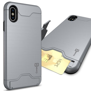iPhone XS Max Case with Card Holder Kickstand - SecureCard Series
