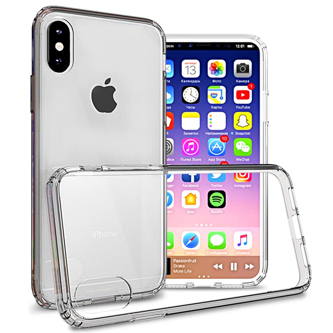 iPhone XS / iPhone X Clear Case - Slim Hard Phone Cover - ClearGuard Series