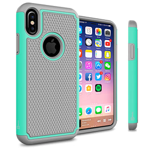 iPhone XS / iPhone X Case - Heavy Duty Protective Hybrid Phone Cover - HexaGuard Series