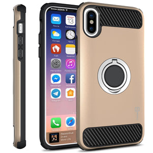 iPhone XS / iPhone X Case with Ring - Magnetic Mount Compatible - RingCase Series