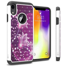 Load image into Gallery viewer, iPhone XR Case - Rhinestone Bling Hybrid Phone Cover - Aurora Series