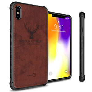 iPhone XS Max Phone Case Slim Fabric Phone Cover - Woven Series