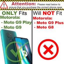 Load image into Gallery viewer, Motorola Moto G9 / Moto G9 Play Wallet Case - RFID Blocking Leather Folio Phone Pouch - CarryALL Series