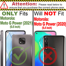 Load image into Gallery viewer, Motorola Moto G Power 2021 Clear Case Hard Slim Protective Phone Cover - Pure View Series