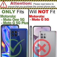 Load image into Gallery viewer, Motorola Moto One 5G / Moto G 5G+ Plus Case with Metal Ring - Resistor Series