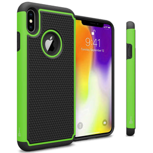iPhone XS Max Case - Heavy Duty Protective Hybrid Phone Cover - HexaGuard Series