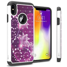 Load image into Gallery viewer, iPhone XS Max Case - Rhinestone Bling Hybrid Phone Cover - Aurora Series