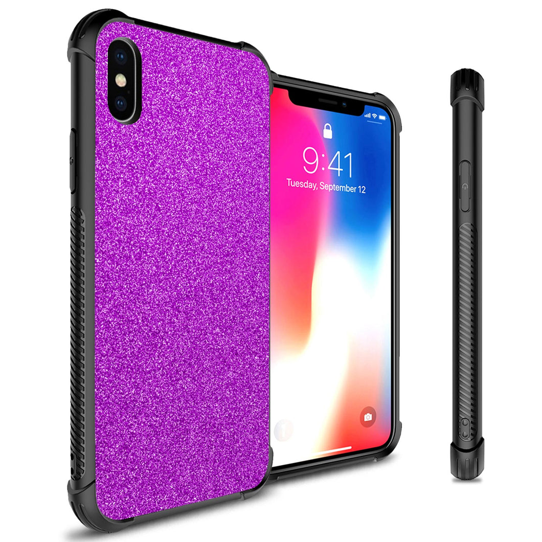 iPhone XS / iPhone X Glitter Case Protective Phone Cover - Glimmer Series