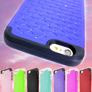 iPhone 6s Plus, iPhone 6 Plus Case - Heavy Duty Hybrid Bling Phone Cover - Aurora Series