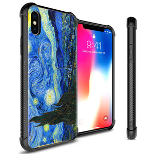 iPhone XS / iPhone X Tempered Glass Phone Cover Case - Gallery Series