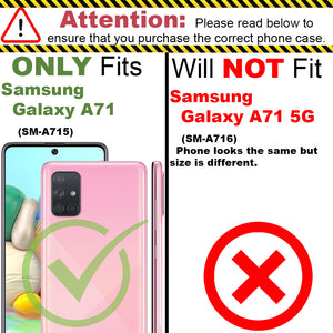 Samsung Galaxy A71 Clear Case Hard Slim Protective Phone Cover - Pure View Series