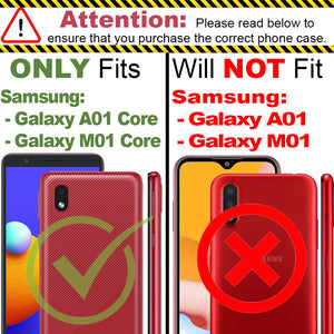 Samsung Galaxy A01 Core / Galaxy M01 Core Case - Heavy Duty Shockproof Clear Phone Cover - EOS Series