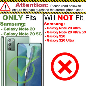 Samsung Galaxy Note 20 Clear Case Hard Slim Protective Phone Cover - Pure View Series