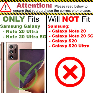 Samsung Galaxy Note 20 Ultra Clear Case Hard Slim Protective Phone Cover - Pure View Series