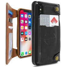 Load image into Gallery viewer, iPhone XS / iPhone X Wallet Phone Case, Vegan Leather Phone Cover with Detachable Credit Card Holder, Car Mount Compatible - Scout Series