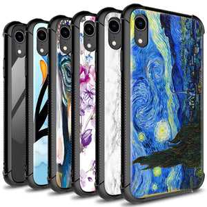 iPhone XR Tempered Glass Phone Cover Case - Gallery Series