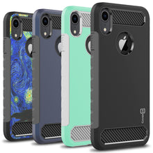 Load image into Gallery viewer, iPhone XR Case - Hybrid Phone Cover with Carbon Fiber Accents - Arc Series